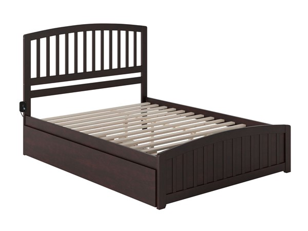 Atlantic Furniture Richmond Queen Bed with Matching Footboard and Twin XL Trundle AR8846041-BED-VAR2