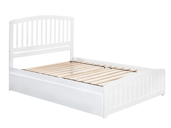 Atlantic Furniture Richmond White 2 Urban Drawers Queen Platform Bed with Matching Foot Board AR8846112