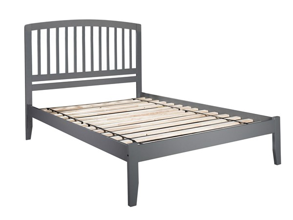 Atlantic Furniture Richmond Grey King Platform Bed with Open Footboard AR8851009