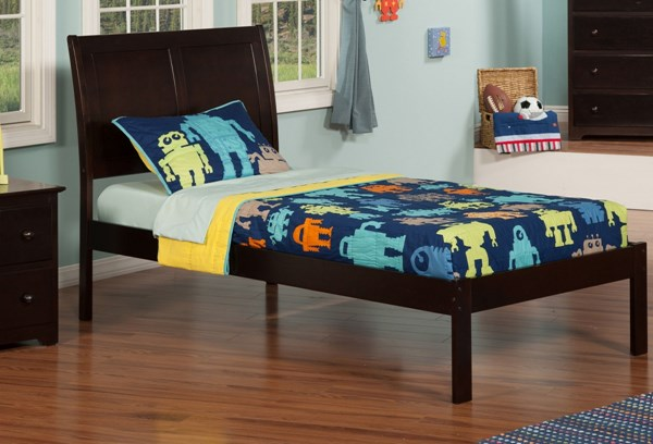 Atlantic Furniture Portland Platform Open Foot Rail Bed AR89-KBEDS-VAR
