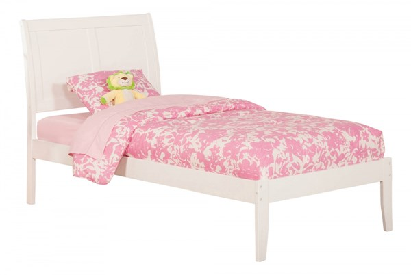Atlantic Furniture Portland White Twin Open Foot Bed AR8921002