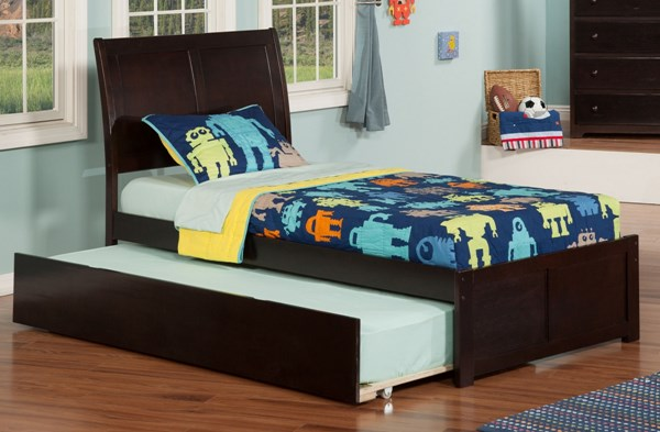 Atlantic Furniture Portland Flat Panel Footboard and Urban Trundle Beds AR89-KBEDS-VAR1