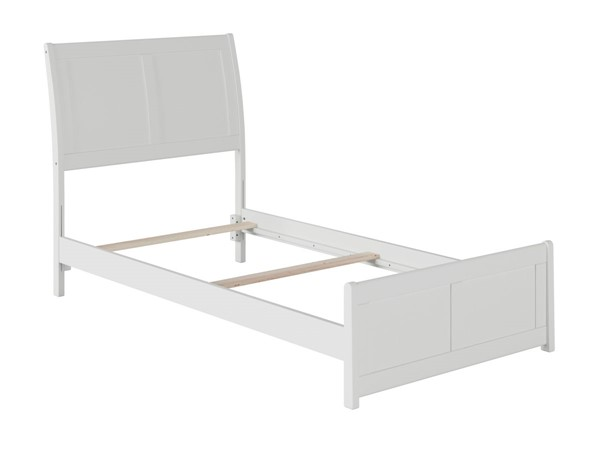 Atlantic Furniture Portland White Traditional Twin Bed with Matching Foot Board AR8926032