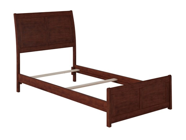 Atlantic Furniture Portland Walnut Traditional Twin Bed with Matching Foot Board AR8926034