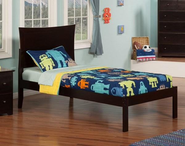 Atlantic Furniture Metro Platform Beds with Open Foot Rail AR90-KBEDS-VAR