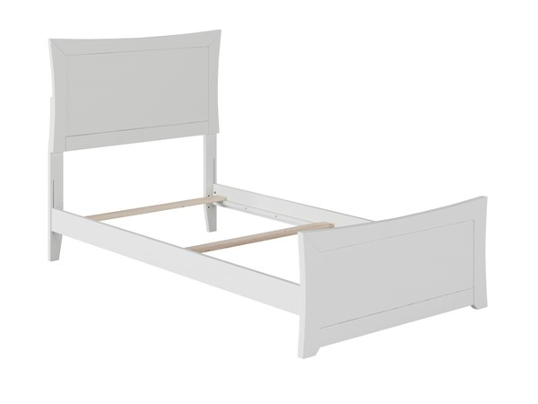 Atlantic Furniture Metro White Matching Foot Board Twin Bed AR9026032