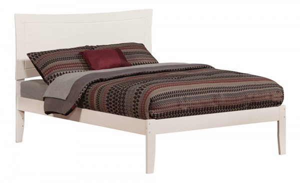 Metro Traditional White Wood Full Platform Open Foot Bed AR9031002