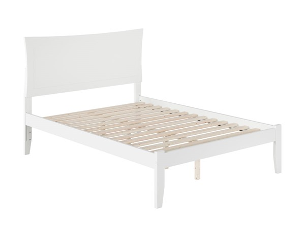 Atlantic Furniture Metro White Full Bed with Open Foot Rail AR9031002