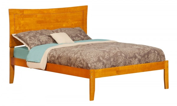 Atlantic Furniture Metro Caramel Latte Full Bed with Open Foot Rail AR9031007
