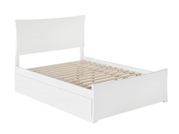 Atlantic Furniture Metro White Full Bed with Matching Foot Board and Twin Urban Trundle AR9036012