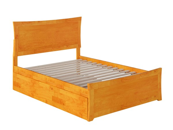 Atlantic Furniture Metro Caramel Full Bed with Matching Foot Board and Full Urban Trundle AR9036057