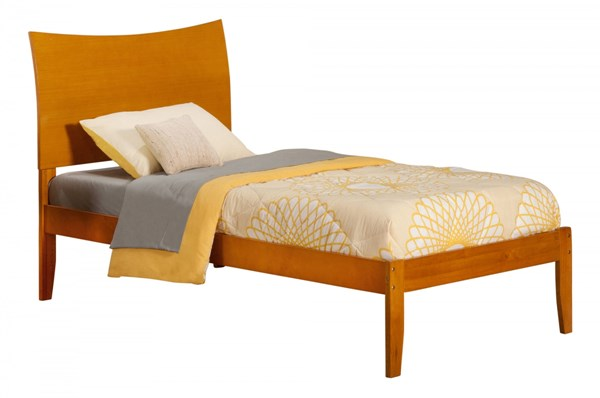 Soho Caramel Latte Wood Twin Extra Long Platform Open Foot Bed AR9111007