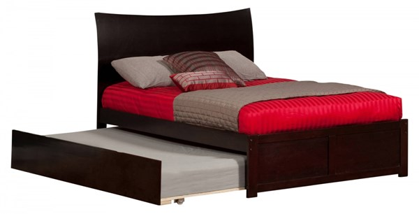 Soho Espresso Wood Flat Panel Footboard & Urban Trundle Full Bed AR9132011