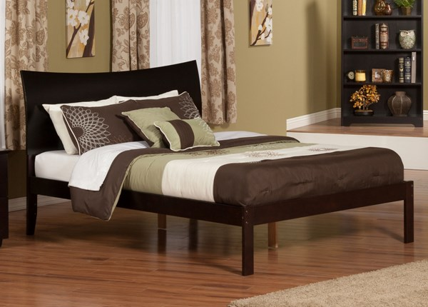 Soho Traditional White Espresso Caramel Latte Solid Wood Platform Beds AR914-915-BEDS
