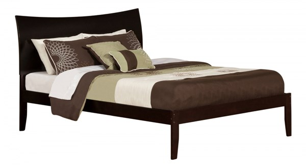 Soho Espresso Wood King Platform Open Foot Bed AR9151001