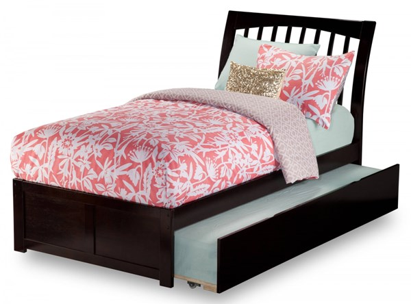 Orleans Classic Solid Wood Flat Panel Foot Board Bed w/Urban Trundle AR92-VAR2