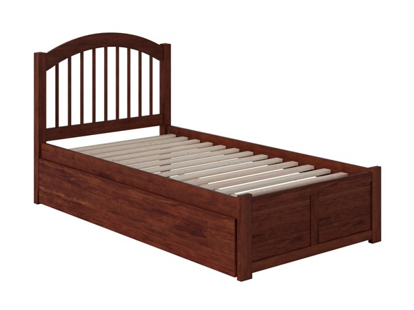 Atlantic Furniture Windsor Walnut Twin XL Urban Trundle Bed with Footboard AR9412044