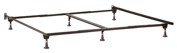 Twin/Twin XL/Full/Queen/King/Cal King Metal Glides Bed Frame E-63166-G