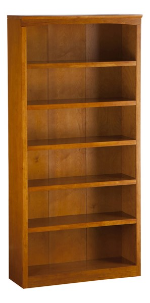 Harvard Caramel Latte Hardwood 72 Inches Tall Book Shelf H-80067