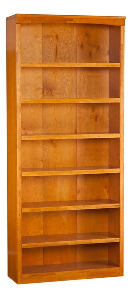 Harvard Caramel Latte Hardwood 84 Inches Book Shelf H-80077