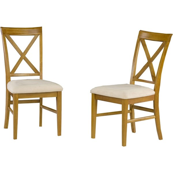 Lexi Dining Chairs Caramel Latte w/Oatmeal Cushions Seat AD772107