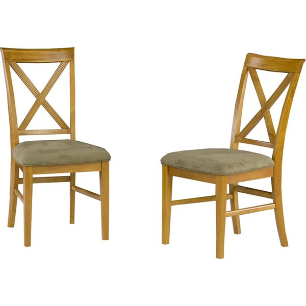 Lexi Dining Chairs Caramel Latte W/Cappuccino Cushions Seat AD772137