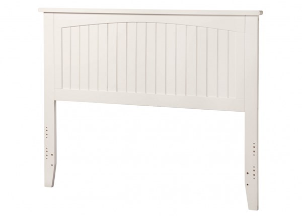 Nantucket Classic White Solid Wood Full Panel Headboard R-182832