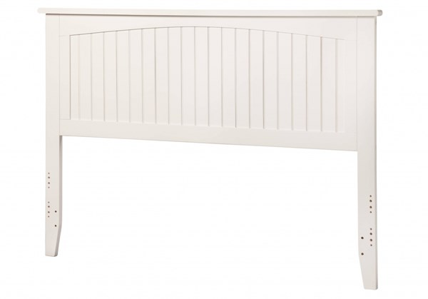 Nantucket Classic White Solid Wood Queen Panel Headboard R-182842
