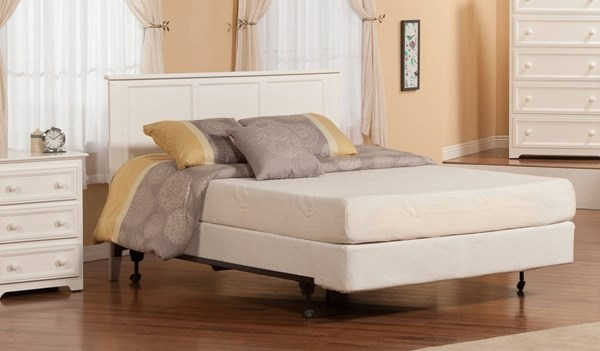 Madison Classic White Solid Wood Metal Queen Platform Headboard Only R-186842