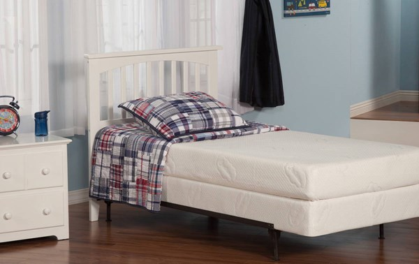 atlantic furniture mission white twin headboard only the classy home. Black Bedroom Furniture Sets. Home Design Ideas