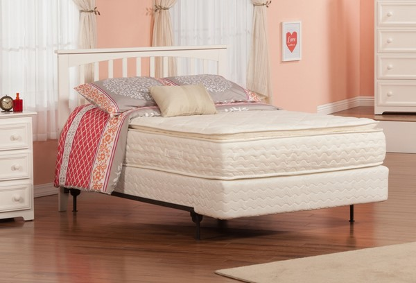 Mission Elegant White Solid Wood Full Headboard Only R-187832