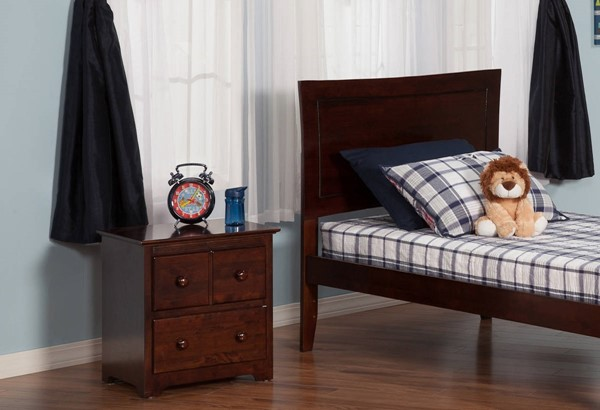 Metro Antique Walnut Solid Wood Twin Headboard Only R-190824