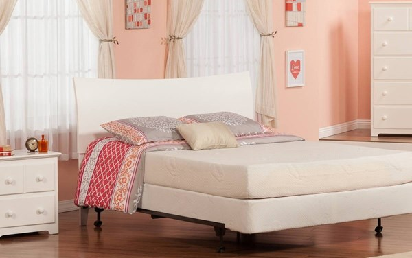 Soho White Solid Wood Queen Sleigh Headboard w/Metal Frame R-191842-HDBD-FRM
