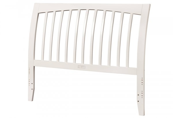 Orleans Modern White Solid Wood Queen Panel Headboard R-192842