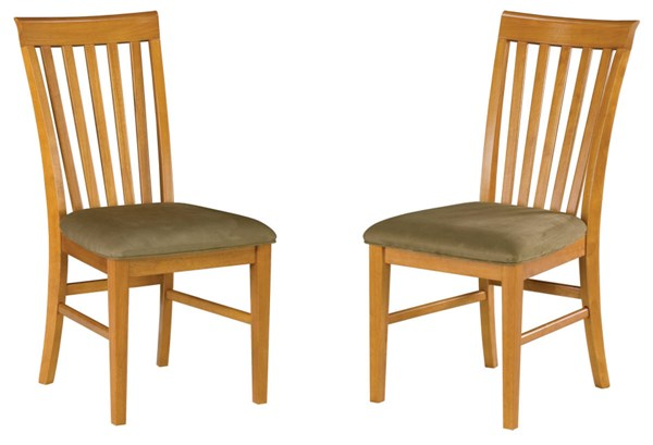 Mission Dining Chairs Caramel Latte w/Cappucino Cushions Seat AD771137