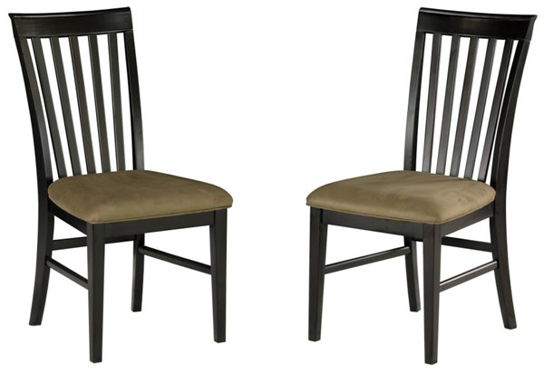 Mission Dining Chairs Espresso w/Cappucino Cushions Seat AD771131