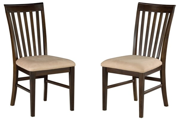 Mission Dining Chairs Antique Walnut w/Oatmeal Cushions Seat AD771104