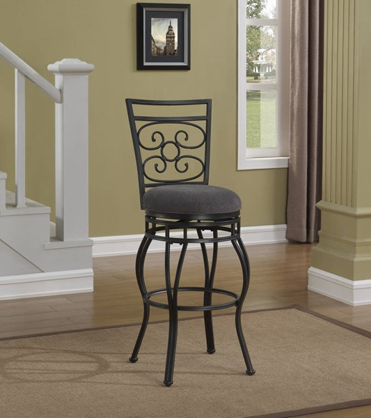 American Woodcrafters Charcoal Grey Counter Height Stool with Back AWC-B1-151-26F