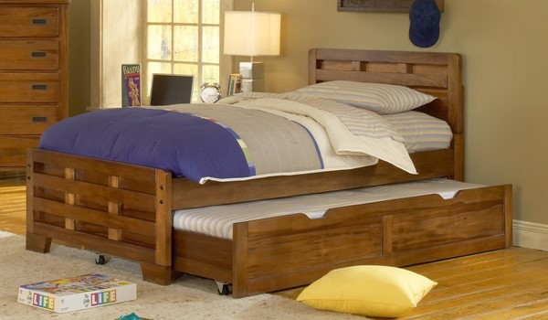 American Woodcrafters Heartland Captains Trundle Beds AWC-1800-TR-KBED-VAR