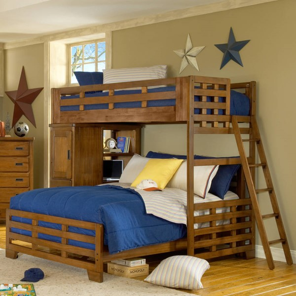 American Woodcrafters Heartland Twin over Full Student Loft Bed AWC-1800-TFLB