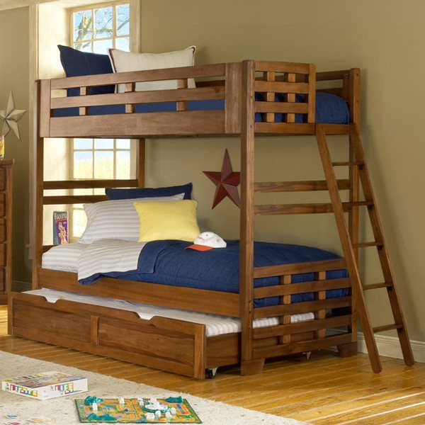 American Woodcrafters Heartland Twin over Twin Trundle Bunk Bed AWC-1800-33-TR-BNK