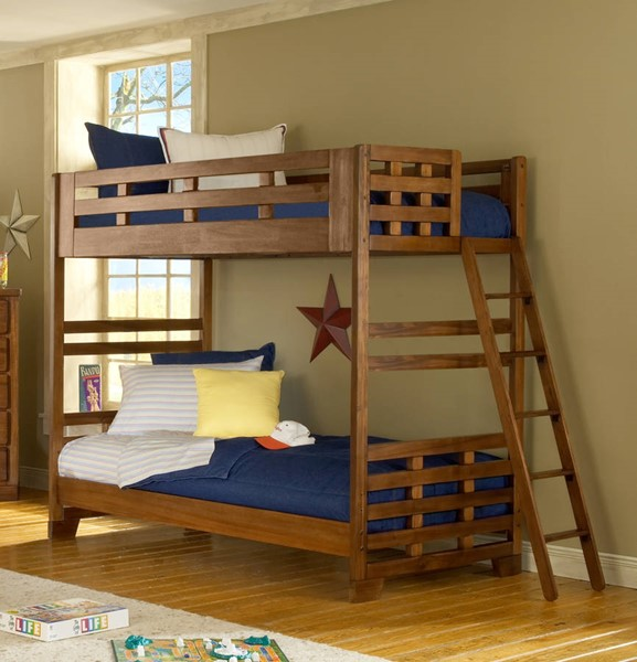 American Woodcrafters Heartland Twin over Twin Bunk Bed AWC-1800-33BNK
