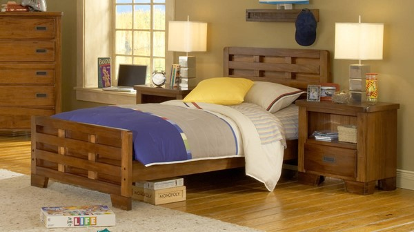 American Woodcrafters Heartland 2pc Kids Bedroom Set with Full Bed AWC-1800-46-KBR-S1
