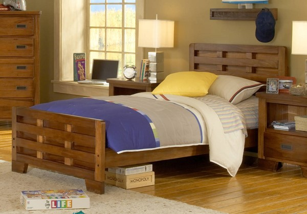 American Woodcrafters Heartland Twin Captains Bed AWC-1800-33CPB
