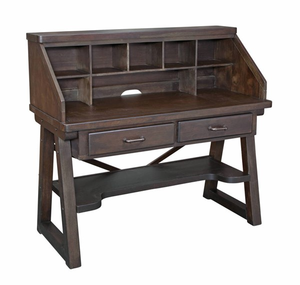 American Woodcrafters Billings Dark Walnut Desk and Hutch AWC-1840-343