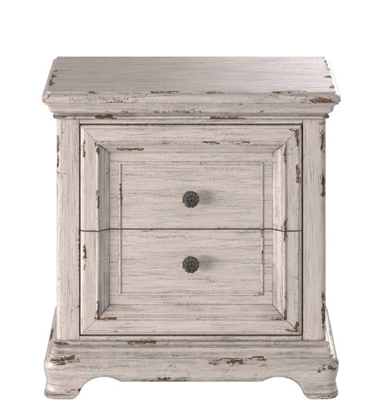 American Woodcrafters Providence Antique White 2 Drawer Nightstand AWC-1910-420