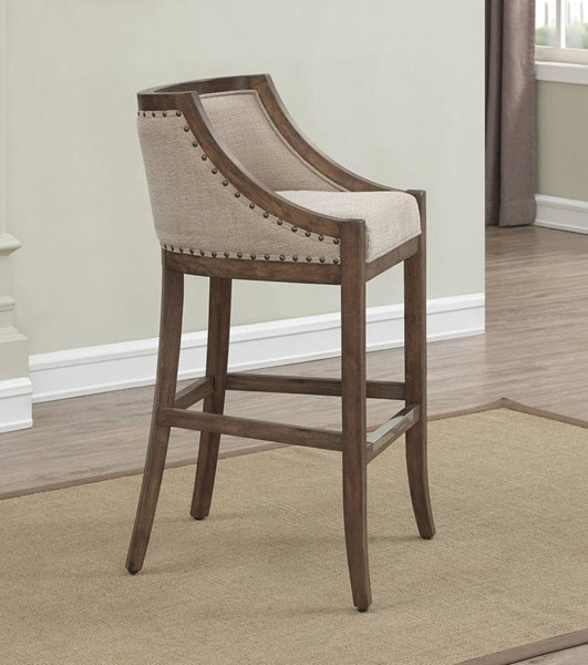 American Woodcrafters Warm Brown Distressed Bar Stool with Back AWC-B2-256-30F