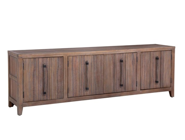 American Woodcrafters Aurora Weathered Grey 80 Inch Console AWC-2800-240