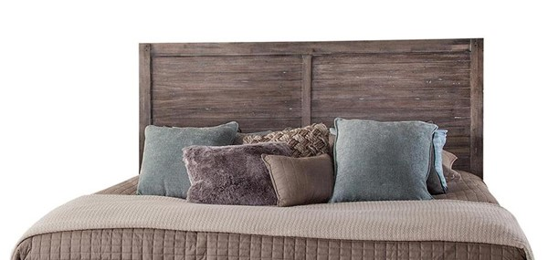 American Woodcrafters Aurora Weathered Grey King Panel Headboard AWC-2800-960