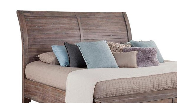 American Woodcrafters Aurora Weathered Grey Queen Sleigh Headboard AWC-2800-954